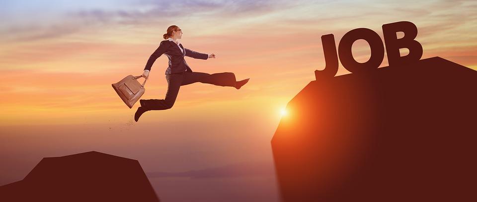 Success, Business Woman, Career, Jump, Risk, Reach, Job